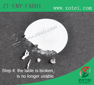 Fragile RFID label (Product Type: ZT-ENY-FAR01)