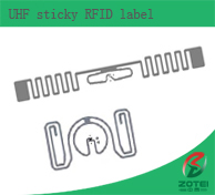 UHF sticky RFID label / inlay