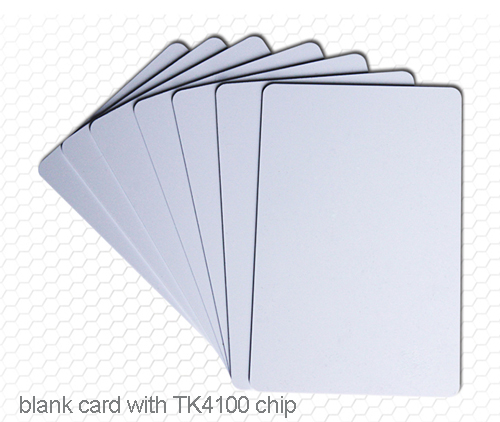 blank card with chip