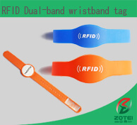 RFID two chips wristband tag