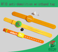 RFID anti-demolition wristband tag