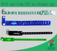 RFID one-time PVC wristband tag