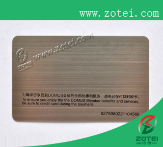 wire drawing silver metal card
